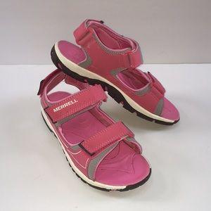 Merrell girls pink sport sandals activewear water